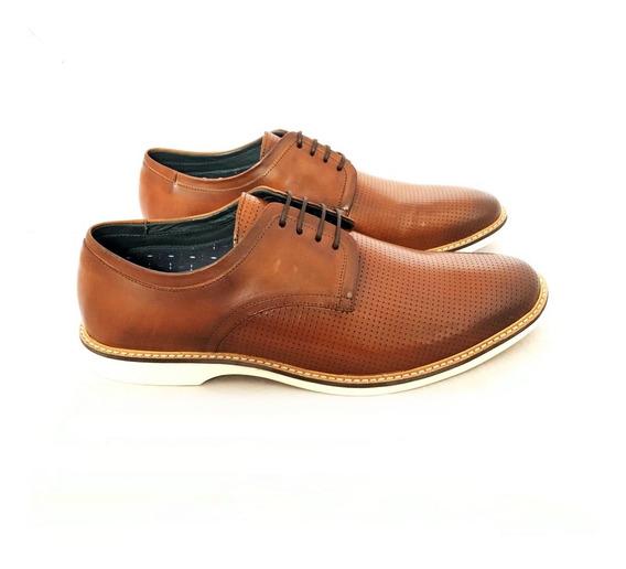 Sapato Dom Solado Antiderrapante Romana Couro Natural