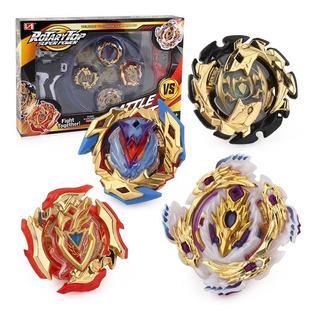 Trompos Con Lanzador Beyblade Burst, 4 Piezas, Dorado