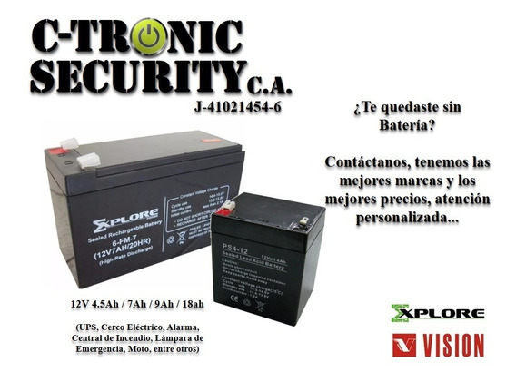 Bateria 12v 4.5ah 7ah 9ah 18ah Ups Cerco Alarma Moto