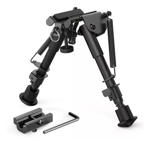 Imagem 1 de 6 de Bipé BiPod Metal Retrátil Tático Sniper C/ Adap De Trilho