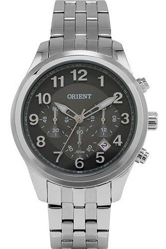 Relógio Orient Sport Wr 50m Cronógrafo Aço Mbssc113g2sx