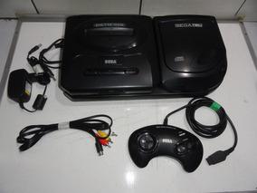 Mega Drive Genesis Com Sega Cd Console Lindo Completo C05
