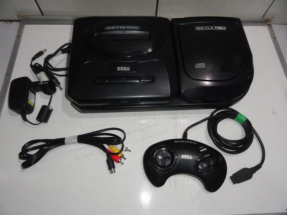Mega Drive Genesis Com Sega Cd Console Sem Estoque