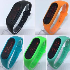 Kit 10 Relógio Digital Led Sport Pulseira Silicone Top