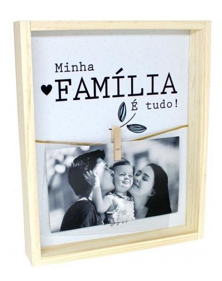 Porta Retrato Varal Minha Família É Tudo! Foto 10x15