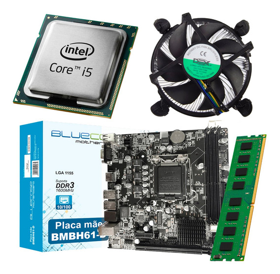 Kit Intel Processador Core I5 3470 + Placa Mãe H61 + 4gb Ram