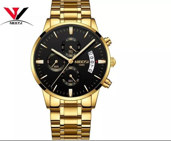 Relógio Masculino Nibosi Blindado Antirisco Black Friday