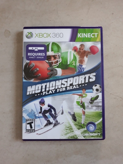 Jogo Motion Sports Play For Real Xbox 360 Kinect Sensor