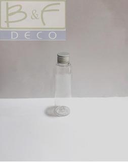 20 Frasco Envase Plastico X 125 Cc C/tapa Metalica- Souvenir