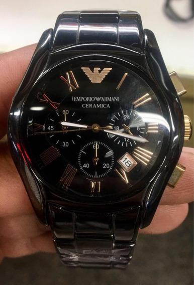 Relógio Emporio Armani Cerâmica Cronógrafo Ar1410