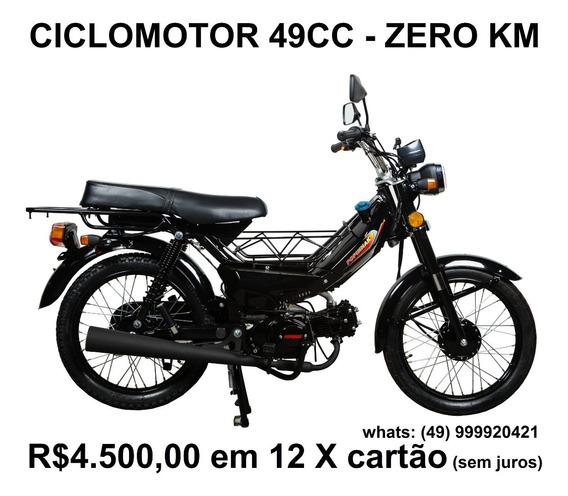 Ciclomotor 49cc, Zero Km, 4 Tempos, Partida Pedal, 4 Marchas