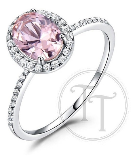Anillo Zafiro Rosa 2.0 Ct Plata Esterlina 925