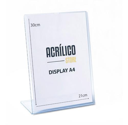Display De Pvc Tipo L A4 Vertical (21x30cm)