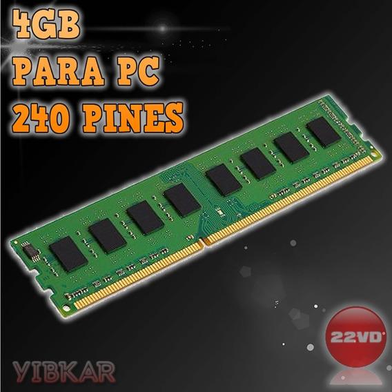 Memoria Ddr3 4gb 1333 Mhz Pc3 10600 1.5v Para Pc Nueva!