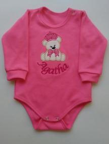 Body Personalizado Lindo Menina Roupa De Bebê Rn- 12 Meses