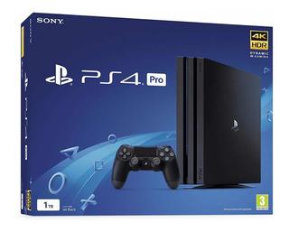 Consola Playstation 4 Pro Negra Desde Eeuu