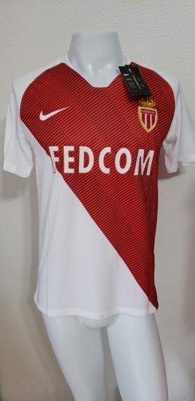 Camisa Monaco Home 18-19 Falcao 9 Patch Ligue 1 Importada