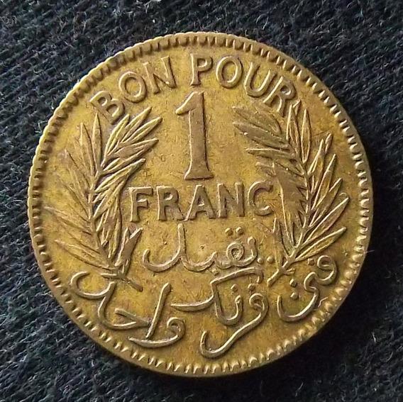 Túnez 1 Franco 1926 Mb Km 247 Colonia Francesa