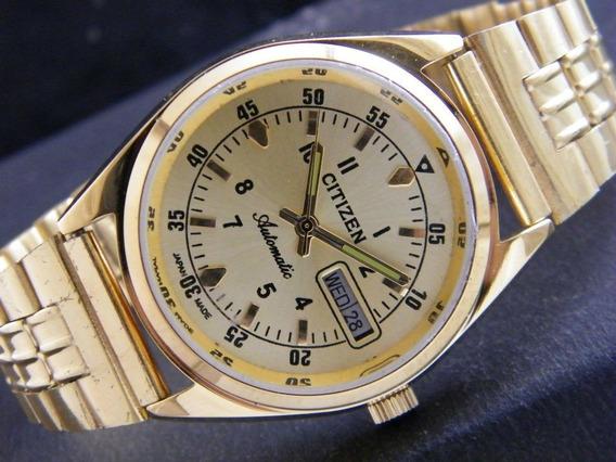 Reloj Vintage De Pulsera Citizen Chapa De Oro De Japón