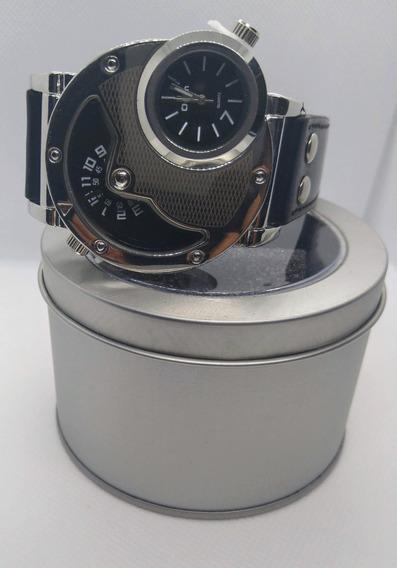 Relógio Masculino Oulm Prata