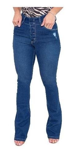 Imagem 1 de 6 de Calça Jeans Flare Feminina Revanche Chanine