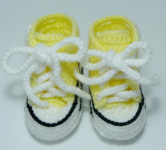 Zapatos Tejidos Crochet Bebe (botas Escarpines) Converse