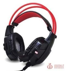 Headfone Gamer C/ Microfone / Luz De Led Colorida
