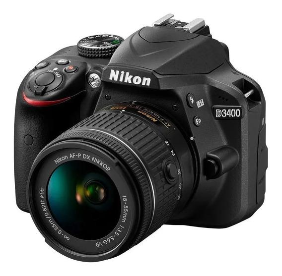 Câmera Nikon D3400 Kit Af-p Dx Nikkor 18-55mm F/3.5-5.6g Vr