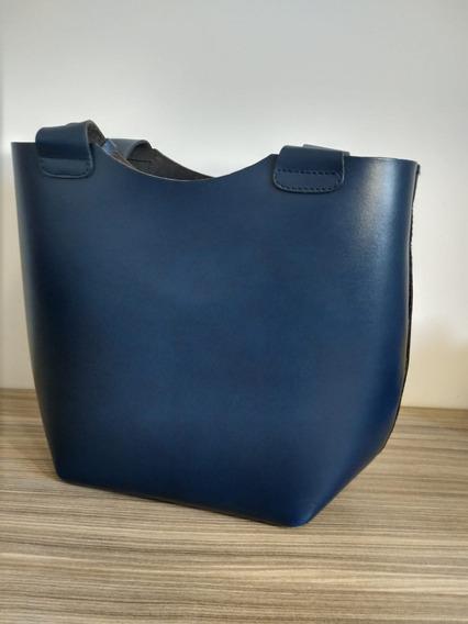 Bolsa Zara - Olivia Palermo - Couro De Bufalo