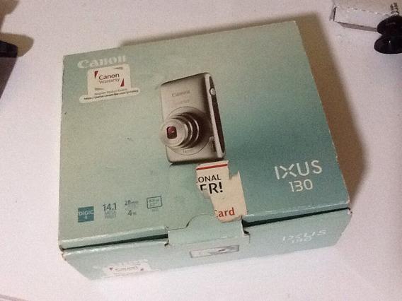 Câmera Digital Cannon Ixus 130 Funcionando Com Cartão 4gb