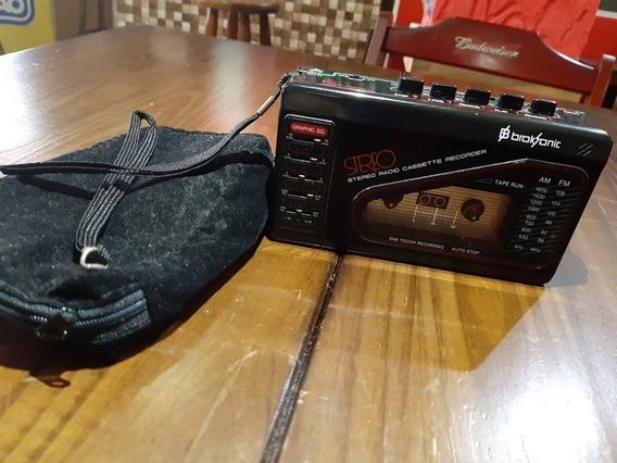 Radinho Broksonic Cassete Sério Am Fm