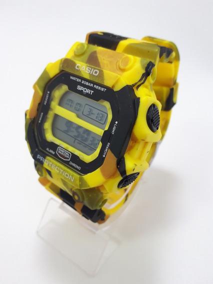Relógio Digital Masculino Quadrado Estiloso Homens Grande