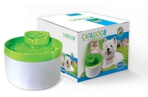 Bebedouro Elétrico Cães E Gatos Chalesco Verde Sofisticado