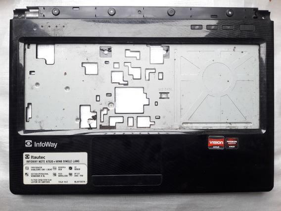 Carcaça Sup Notebook Itautec A7520, A7420, W7550 + Touch Pad