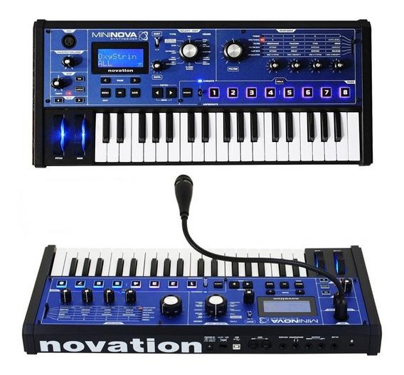 Sintetizador De Audio Novation Mininova 37 Teclas Com Microfone Usb