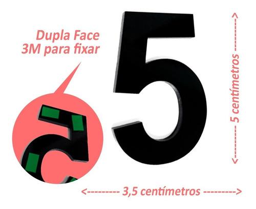 Imagem 1 de 3 de Números E Letras De Apartamento 5cm Em Acrílico 3mm C/ Molde