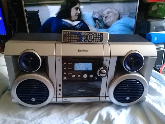 Som Portátil Gradiente Kas-520 Am Fm Cd Dvd Jpeg Cassette