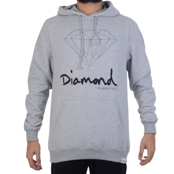 Moletom Diamond Sign Hoodie Mescla
