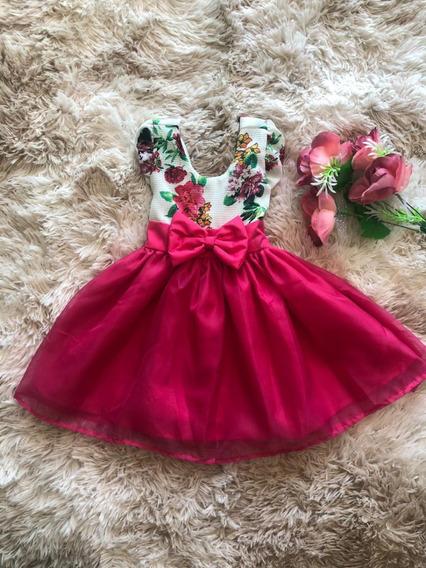 Vestido Menina Tule Luxo Festa Infantil Casamento Batizado