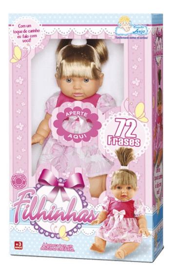 Boneca Real Filhinhas Com Cabelo Loiro Bebê