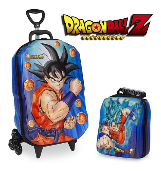 Kit Mochilete + Lancheira Dragon Ball Z Goku 3d Maxtoy