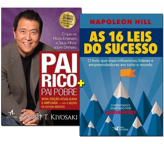 Livros Pai Rico Pai Pobre + 16 Leis Do Sucesso- Frete Gratis