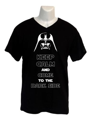 Polera Star Wars - Cuello V - Dark Vader - Keep Calm