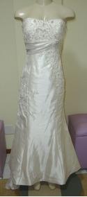 Vestido De Noiva 42 Marfim Sereia - Pronta Entrega - Vn00116