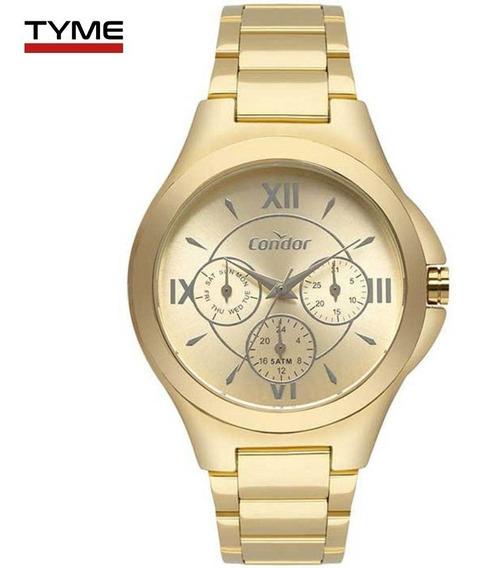 Relógio Condor Feminino Multifunção Co6p29iu/4d Dourado Nfe