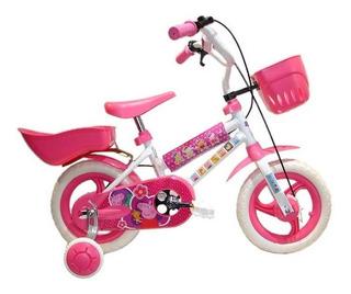 Bicicleta Infantil Cross Rodado 12 Niña Peppa Pig
