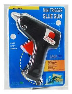 Pistola Silicón Pequeña 110-220v 40w Barra Delgada Glue Gun