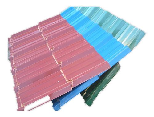 Teja Color Chapa Trapezoidal Calibre 26 1.05m Imp.envios Uru