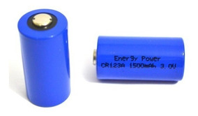 Bateria Cr123a Li-mno2 3v 1500mah Lithium Energy Power
