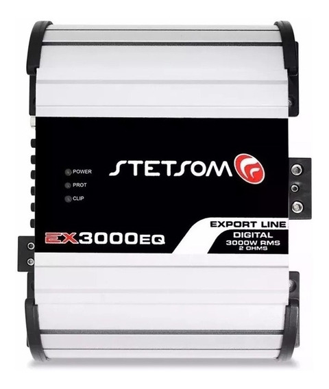 Módulo Amplificador Stetsom Ex3000eq 2 Ohms 3000w 1 Canal
